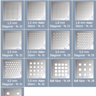 Standart Clip-in Tile Metal asma tavan
